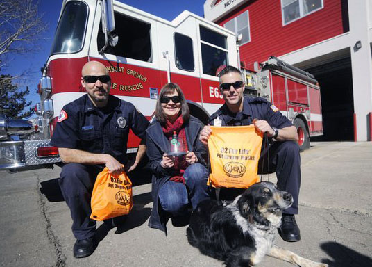 Photo of Mindy with Fire Dept.